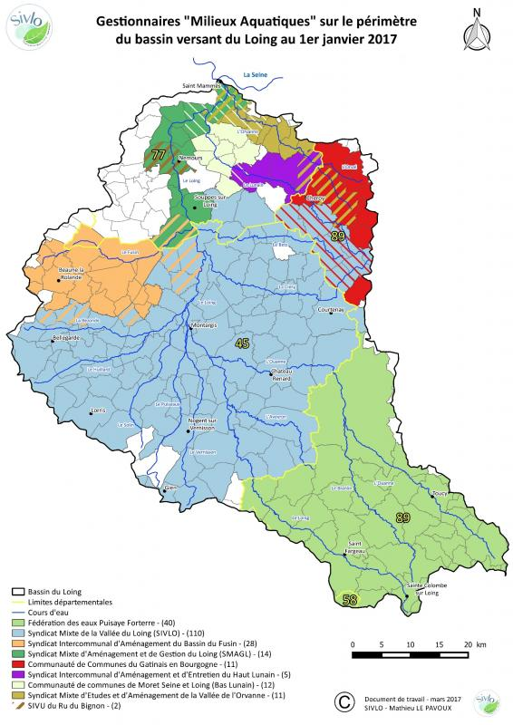 Création d'un EPAGE sur le bassin versant du Loing