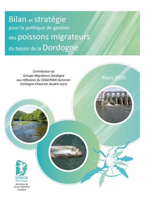 Bilan et stratégie pour la gestion des migrateurs du bassin de la Dordogne