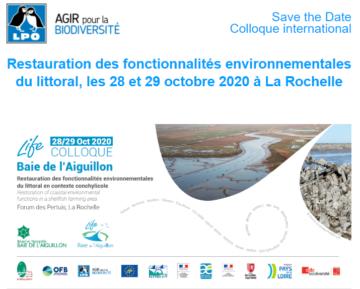 Colloque International – Restauration des fonctionnalités environnementales du littoral