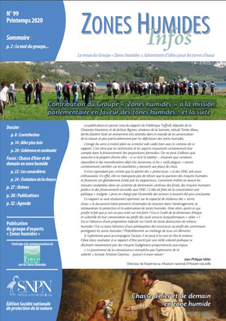 Zones Humides Infos  – Contribution du Groupe « Zones humides » à la mission parlementaire en faveur des zones humides… et la suite