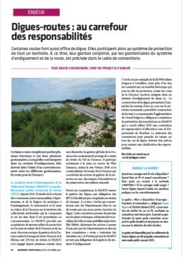 Ingénierie Territoriale – Dossier «Digues-routes : au carrefour des responsabilités» – Contribution de l'ANEB