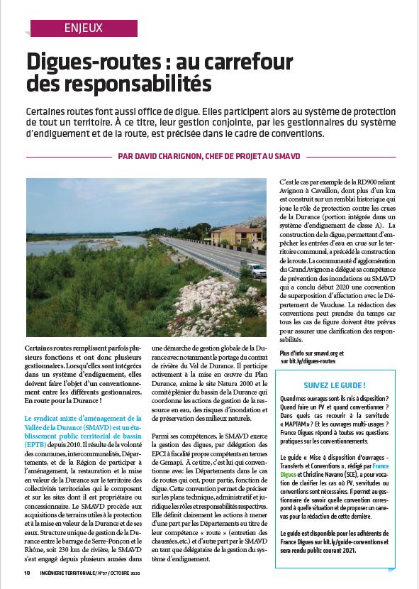 Ingénierie Territoriale n°57 : Routes et mobilités
