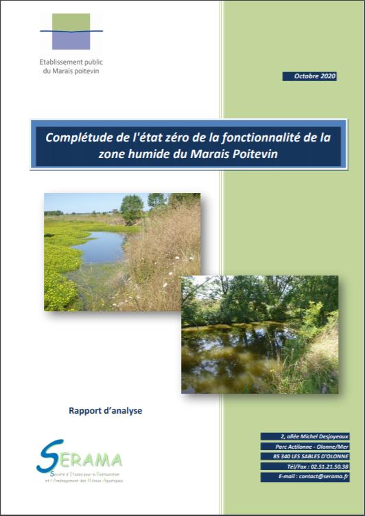 Complétude de l'état zéro de la fonctionnalité de la zone humide du Marais Poitevin