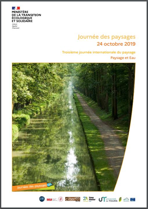 Journée des paysages – 24 octobre 2019 Troisième journée internationale du paysage – Paysage et eau