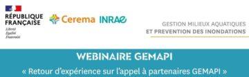 Webinaire GEMAPI «Retour d'expérience sur l'appel à partenaires GEMAPI»