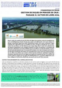 Gestion de digues en période de crue : passage à l'action en Loire aval