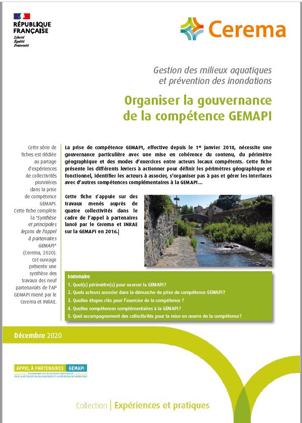 Organiser la gouvernance de la compétence GEMAPI