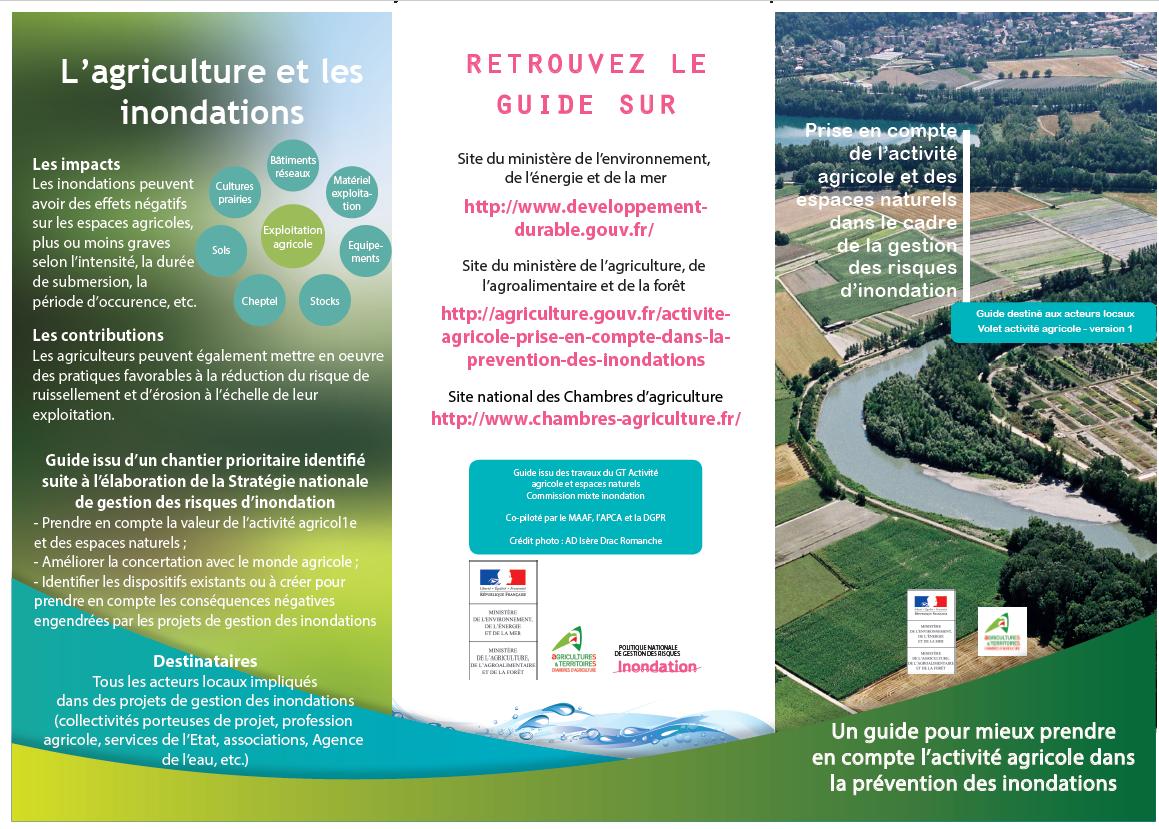 Prise en compte de l'activité agricole et des espaces naturels dans le cadre de la gestion des risques d'inondation